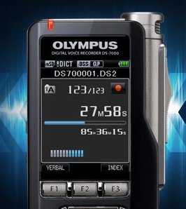 Olympus Ds-7000 digital mobile dictation recorder